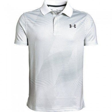 Under Armour chlapecké  golfové triko Performance Polo Novelty White, L