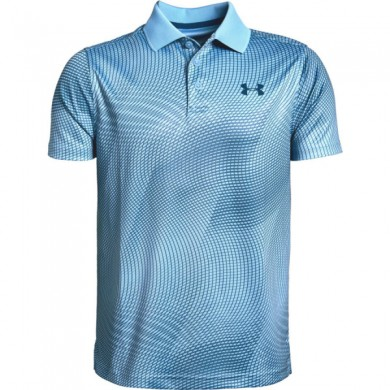 Under Armour chlapecké  golfové triko Performance Polo Novelty Boho Blue, L