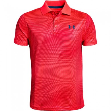 Under Armour chlapecké  golfové triko Performance Polo Novelty Red Rage, L