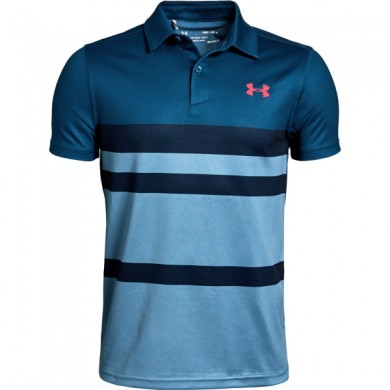 Under Armour chlapecké  golfové triko Tour Tips Engineered Polo Petrol Blue, L