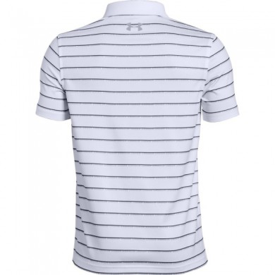 Under Armour chlapecké  golfové triko Tour Tips Stripe Polo White, L
