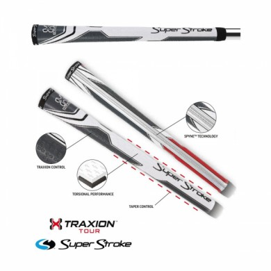 Super Stroke club grips TRAXION TOUR Grip Undersize White/Grey