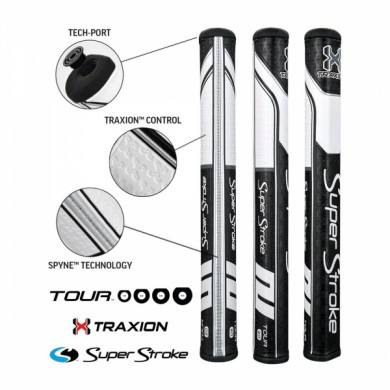 Super Stroke putter grip Traxion Tour Series 2.0 Black/White