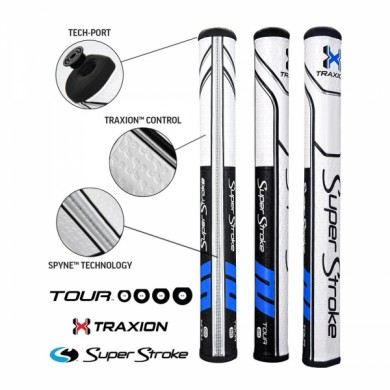 Super Stroke putter grip Traxion Tour Series 2.0 Black/Blue/White