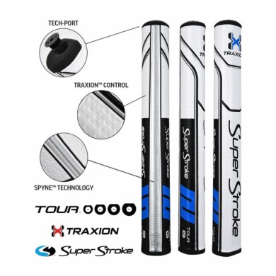 Super Stroke putter grip Traxion Tour Series 3.0 Black/Blue/White