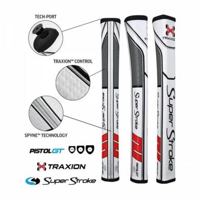 Super Stroke putter grip Pistol GT 2.0 White/Red/Grey