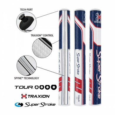 Super Stroke putter grip Traxion Tour Series 3.0 Red/White/Blue