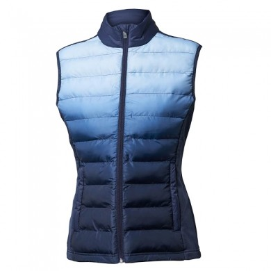 BACKTEE Ladies Dip Dye Quilt Vest, Navy, vel.XS
