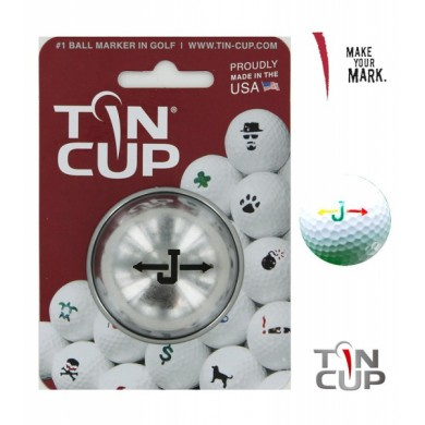 TIN CUP - UNION JACK  Alpha Players - J
