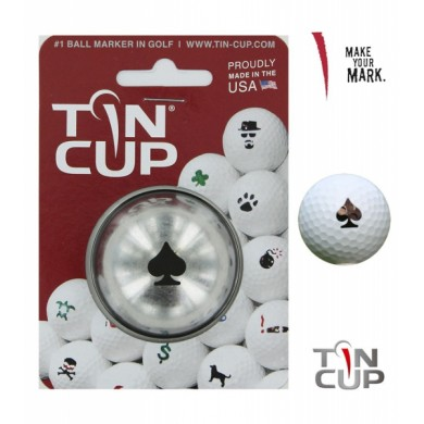 Tin Cup Logo Series Poker Face
