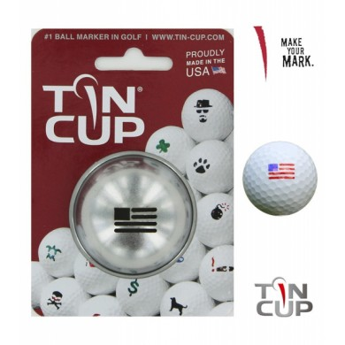 Tin Cup Logo Series  Stars and Stripes
