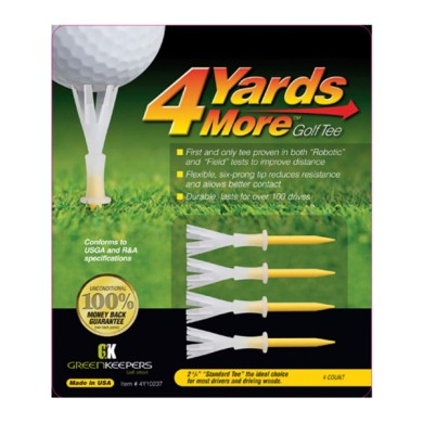 GOLF TEE 4YDS  MORE - STD YELLOW