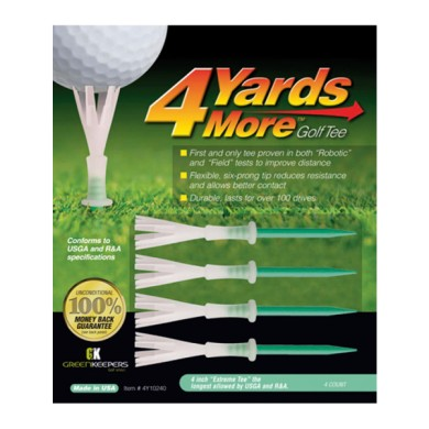 GOLF TEE 4YDS MORE - (GREEN) 4INCH EXT