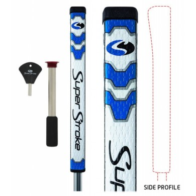 SUPERSTROKE Pistol GT Tour Putter Grip with CounterCore Technology - Blue