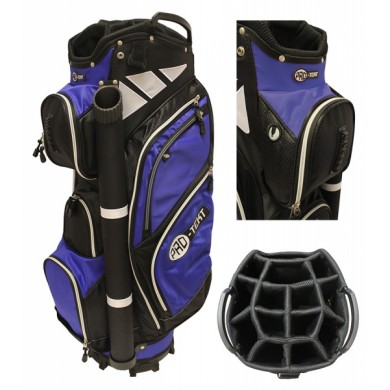 PRO-TEKT 9 INCH CART BAG BLACK/BLUE/WHITE