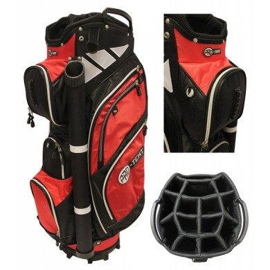 PRO-TEKT 9 INCH CART BAG BLACK/RED/WHITE
