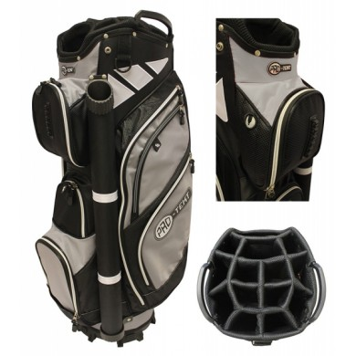 PRO-TEKT 9 INCH CART BAG BLACK/GREY/WHITE