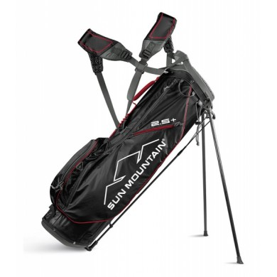 Sun Mountain 2018 Two-5 Plus Stand bag Black/Red/Gunmetal