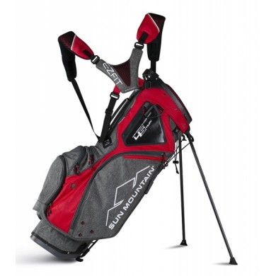 Sun Mountain 2018 Four-5 LS 14-Way Stand Bag Iron/Red