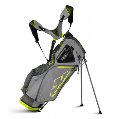 Sun Mountain 2018 Four-5 LS 14-Way Stand Bag Grey/Gunmetal/Flash