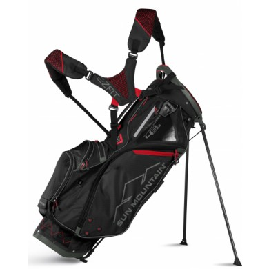 Sun Mountain 2018 Four-5 LS 14-Way Stand Bag Black/Gunmetal/Red