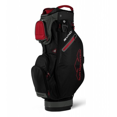 Sun Mountain 2018 SYNC Cart Bag Black/Gunmetal/Red