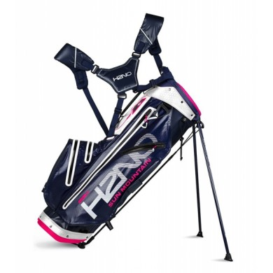 Sun Mountain 2018 H2NO Lite Stand Bag Navy/White/Hot Pink