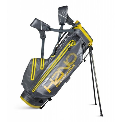 Sun Mountain 2018 H2NO Superlite Stand Bag Gunmetal/Yellow