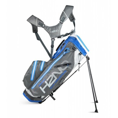 Sun Mountain 2018 H2NO 14-Way Stand Bag White/Gunmetal/Cobalt