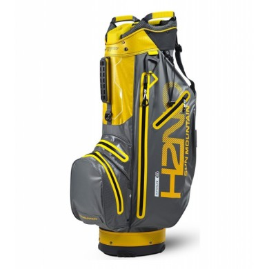 Sun Mountain 2018 H2NO Superlite Cart Bag Gunmetal/Yellow