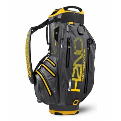 Sun Mountain 2018 H2NO Elite Cart Bag Gunmetal/Yellow