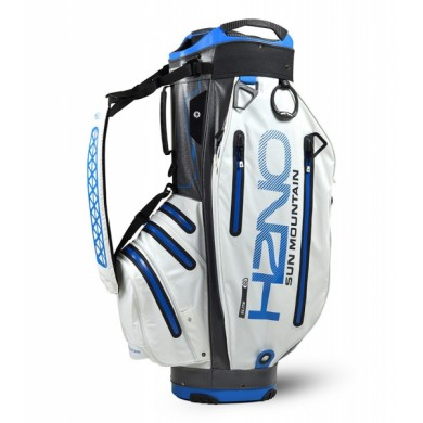 Sun Mountain 2018 H2NO Elite Cart Bag White/Gunmetal/Cobalt