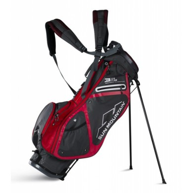 Sun Mountain 2018 Three 5 LS Stand Bag Gunmetal/Red