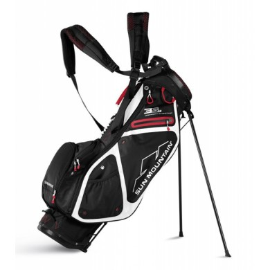 Sun Mountain 2018 Three 5 LS Stand Bag Black/White/Red