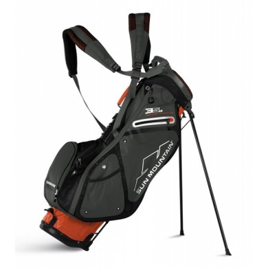 Sun Mountain 2018 Three 5 LS Stand Bag Orange/Gunmetal/Black