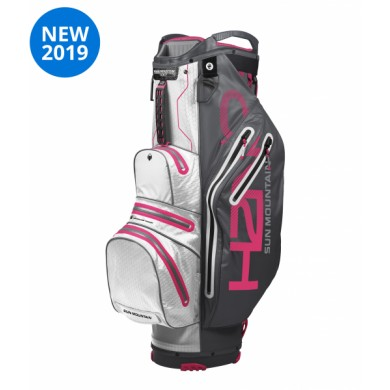 Sun Mountain 2019 H2NO LITE Cart bag STEEL-WHITE-PINK