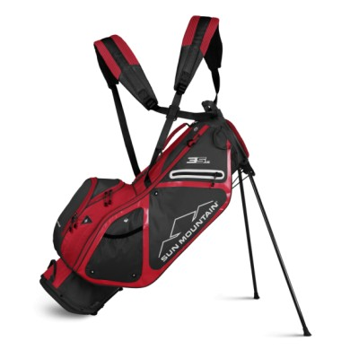 Sun Mountain 2019 Three 5 LS Stand Bag STEEL-RED
