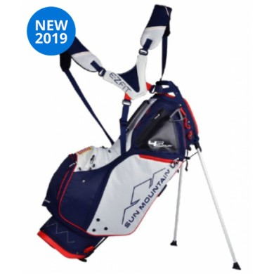 Sun Mountain 2019 Four-5 LS 14-WAY Stand Bag  NAVY-WHITE-RED