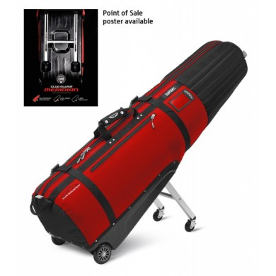 Sun Mountain Travel cover CLUB GLIDER MERIDIAN Black/Red