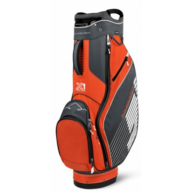 SunMountain X-1 Cart bag gunmetal/orange/white