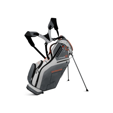 SunMountain Four 5 stand bag Titanium/GunMetal/Orange