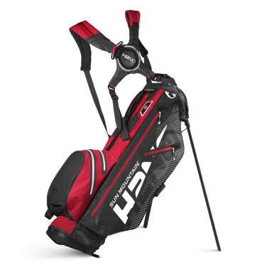 Sun Mountain 2020 H2NO lite Stand Bag LH BLK-RED-WHITE