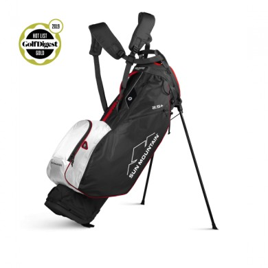 Sun Mountain 2020 Two-5 Plus Stand Bag BLACK-WHITE-RED