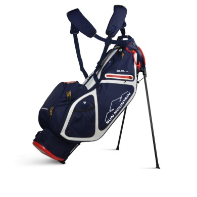 Sun Mountain 2020 Three 5 LS Stand Bag NAVY-WHITE-RED