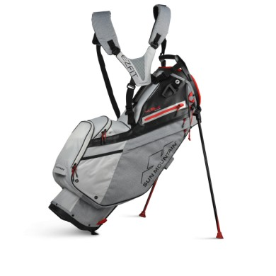 Sun Mountain 2020 Four-5 LS 14-WAY Stand Bag CHAR-WHT-BLK-RED