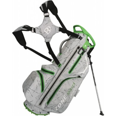 Bennington Stand bag ZONE Waterproof Silver Flash / Lime
