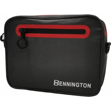 Bennington Pouch bag Charcoal / Red